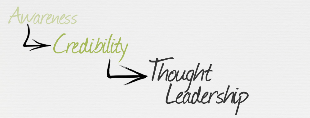 Awareness, credibility and thought leadership